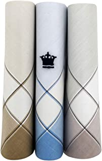 Louis Philippe Men's Cotton Pastel Handkerchief with Brand Logo (Pack of 3)
