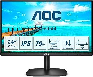 AOC 24B2XDA   24 Zoll FHD Monitor, Adaptive Sync (1920x1080, 75 Hz, VGA, DVI, HDMI) schwarz