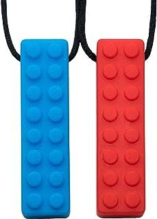 Tilcare Chew Chew Sensory Necklace - bäst för barn eller vuxna som gillar att bita eller har autism - perfekt texturerade ...