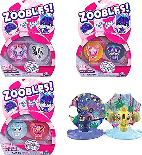 Zoobles Animals Opposite Obsessed 2-Pack - 2 Sammelfiguren mit Verwandlungsmechanismus und 2 Happitat Überraschungen (sortiert)