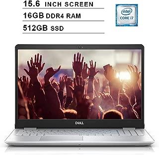 Dell Inspiron 15 5000 15.6 Inch FHD 1080P Laptop - Intel Quad Core i7-8565U up to 4.6 GHz, Intel UHD 620, 16GB DDR4 RAM, 512GB SSD, HDMI, Bluetooth, WiFi, Windows 10, Silver