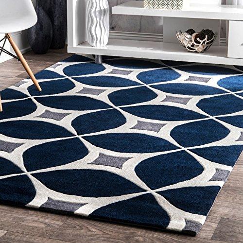 alfombra azul fabricante nuLOOM