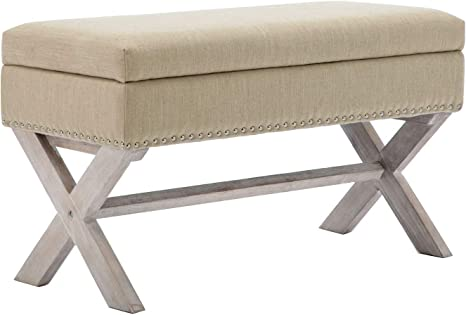 Amazon.com: chairus Fabric Upholstered Storage Entryway Bench, 36