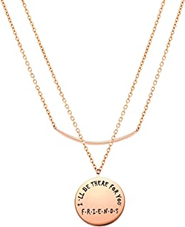 """Friends TV Show Heart PendantNecklace""""I'LL BE THERE FOR YOU""""To My Best Friends, You're the Rachel to My Monica,Best for Fr..."""