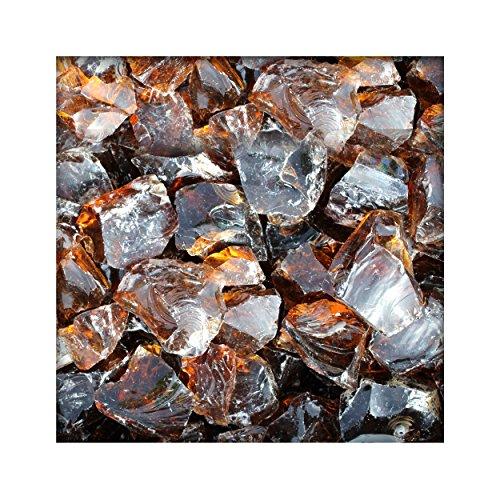 20 kg Glasbrocken Glasbruch Glassteine Glas Gabione 60-120 mm Farbe Bernstein