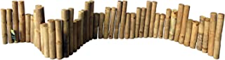 Master Garden Products BE-60S Bamboo Solid Uneven Edging, 12