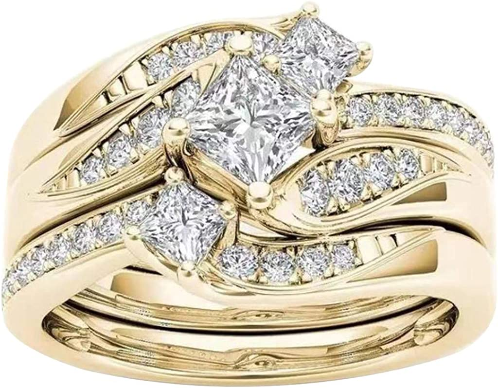 Wedding Banding Ring Round Cubic Zirconia f 1 in Special Milwaukee Mall Campaign Stacking 3
