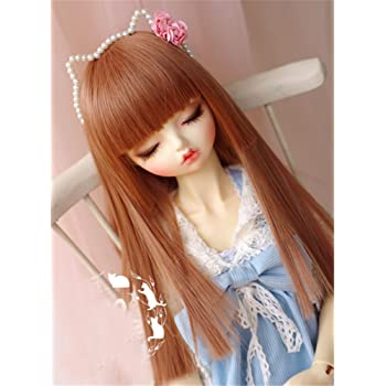 Tita-Doremi BJD Poup/ée PerruqueBall-Jointed Doll 1//3 8-9 inch 22-24cm Dollfie Pullip SD DOD DD Pink Toy Head Wig Hair Wig Only, Not A Doll