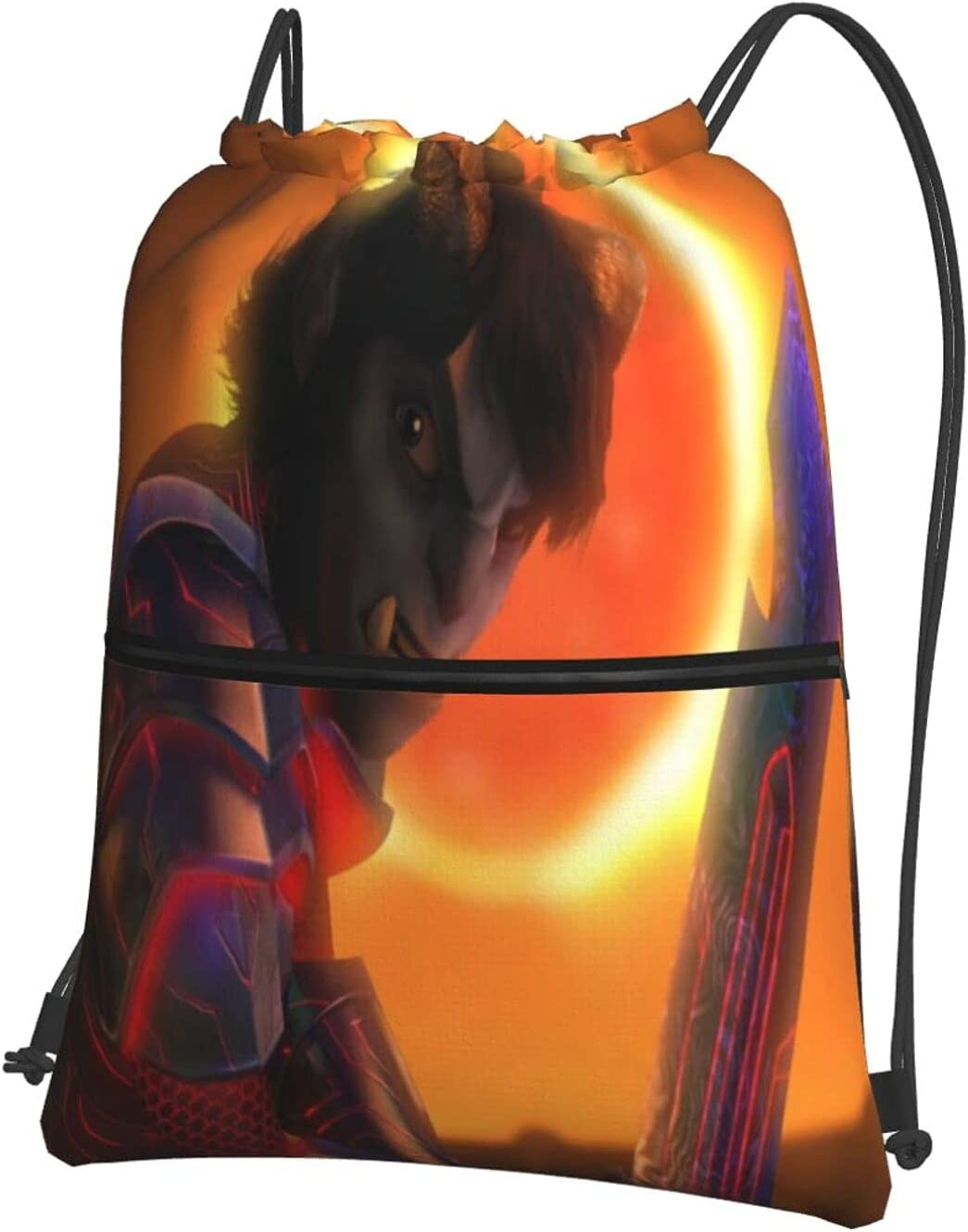 Troll-Hunters Rise of the Titans trust Sport Drawstring Backpack Anime safety