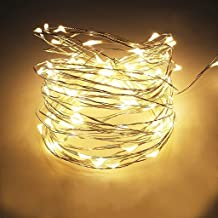 HASTHIP® Copper String Light | Silver-Coated Copper with 60 Tiny Led Lights | Decorative String Lights for Bedroom, Patio, Indoor/Outdoor Waterproof Copper Lights (Warm White)