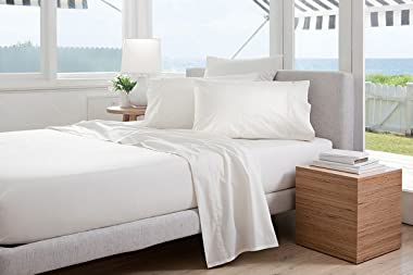 """Knit Jersey 100% Cotton 2 Twin XL Fitted Bed Sheets (2-Pack) Soft and Comfy - Twin Extra Long, 15"""" Deep Pocket, 39"""" x"""