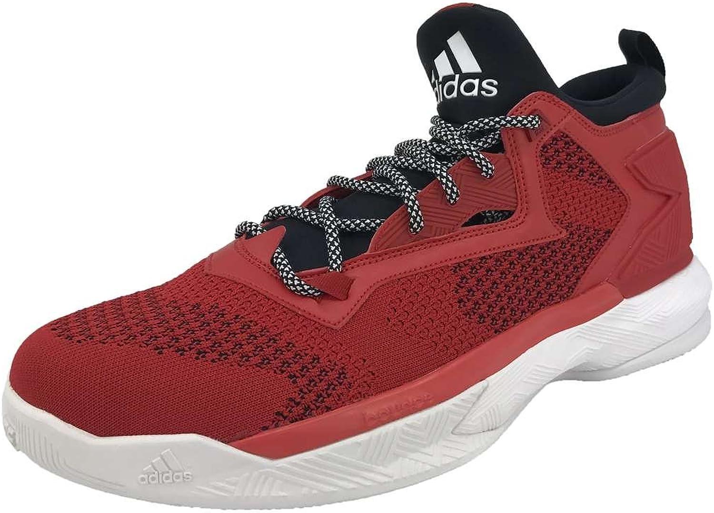 Adidas Men's D Lillard 2 Pk NCAA Basketball schuhe, Scarlet \ schwarz Weiß,11 M US B07DWH5Z6Q  Reparieren