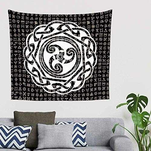 Tapiz,Tapices,Bohemian Abstract SpiralKnot Totem Colgante de Pared Decorativo Porche Colgante Cabecera Fondo-230x150cm