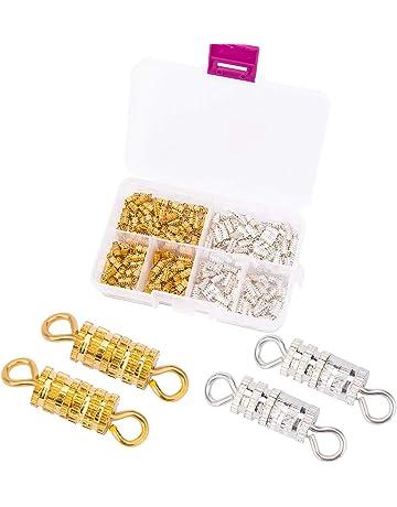 """2 set chiusura per collana e bracciale forma /""""S/"""" colore argento antico"""