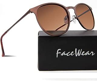 Classic Round Retro Sunglasses UV400 Circle Lens Metal Frame Men Women FW1006