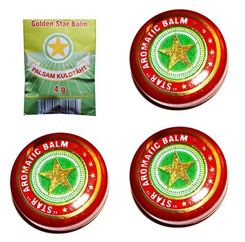 Balsam Goldenen Stern Вьетнам бальзам Звездочка Золотая звезда (3 x 4 g)