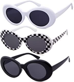 Authentic Clout Goggles Bold Oval Retro Mod Kurt Cobain Sunglasses Clout Round Lens