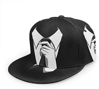 AMZOA MR Black Unisex Hip-Hop Korea Fashion,Snapback Adjustable Printed Hip Hop Baseball Cap