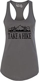 Custom Apparel R Us Take a Hike Camping Womens Racerback Tank