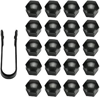 20 pezzi 19 mm cromo universale dado coperchio coperchio bullone bullone con strumento di rimozione EBTOOLS Dadi ruota per ruote Bulloni Protezione coperchi copri tappo