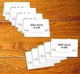 """50 Stück Tischkarten Hochzeit – Platzkarten für Geburtstag, Taufe, Kommunion und Konfirmation mit """"Schön, DASS du da bist"""" Motiv - 4"""