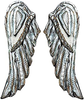 Cape Craftsmen Elegantly Distressed Wood Angel Wings, 2 Piece Set