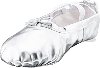 MSMAX Woman's Pu Ballet Dance Shoes with Split Soft Sole