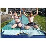 TEAM MAGNUS Wasserrutsche XXL (950x160cm) - Slip und Slide aus strapazierfähigem 0.22mm PVC - 6