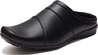 VON HUETTE Mens's Full Real Syn Leather Extra Cushioned Mule Open Shoes/Summer Clogs/Loafers-Black Men's Charles Sandal Open Leather Athletic & Outdoor Sandals Kurta Pajama