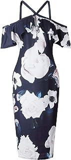 Y&D Evening & Formal A Line Dress For Women blue color