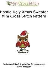 Hootie Ugly Christmas Sweater Mini Cross Stitch Pattern