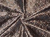 Seiden-Brokatstoff in Schwarz, Braun, X Gold, 111,8 cm –