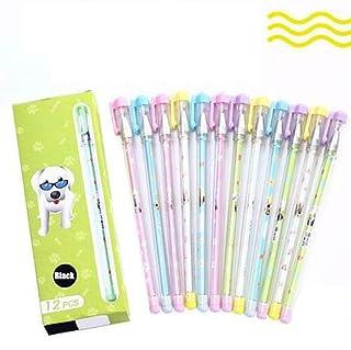 12pcs Heat Erasable Pens, Refillable Gel Ink Stick Pens, Erasable Marker Pens Fine Point, Make Mistakes Disappear, Medium ...