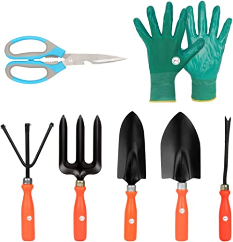 Kraft Seeds Gate Garden! Top 5 Spectacular Gardening Tools Set with Heavy Gardening Scissor and One Pair Hand Gloves ...
