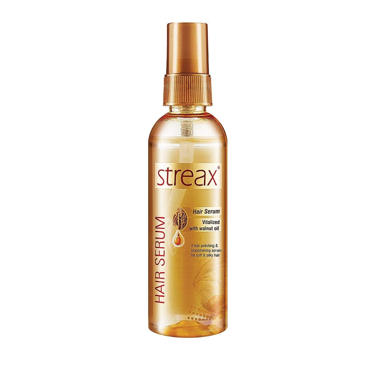新年リンケージ無効にするクルミオイルで強化しStreax髪血清は縮れフリーサテンスムースヘア100ミリリットルを提供します( 3.5オンス)Streax Hair Serum Enriched with Walnut Oil Gives Frizz-free Satin Smooth Hair 100ml (3.5 Oz)