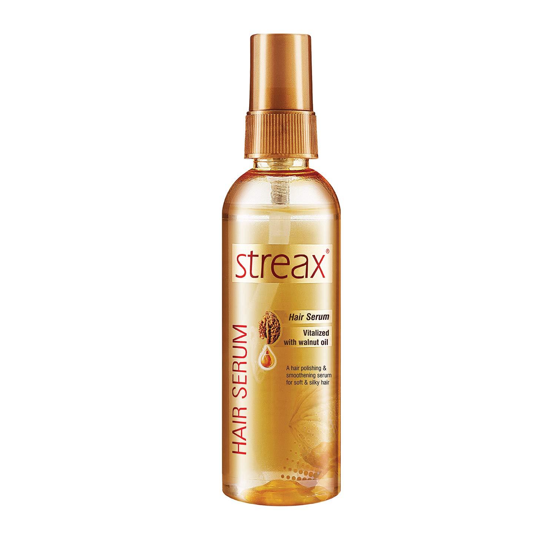 クルミオイルで強化しStreax髪血清は縮れフリーサテンスムースヘア100ミリリットルを提供します( 3.5オンス)Streax Hair Serum Enriched with Walnut Oil Gives Frizz-free Satin Smooth Hair 100ml (3.5 Oz)
