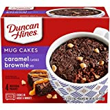 Duncan Hines Mug Cakes Caramel Flavored Brownie Mix, 4 - 2.6 OZ Pouches