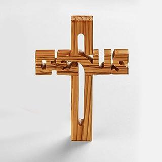 KASSIS Olivenholz Jesuskreuz zum Aufhängen Wandkreuz Deko G