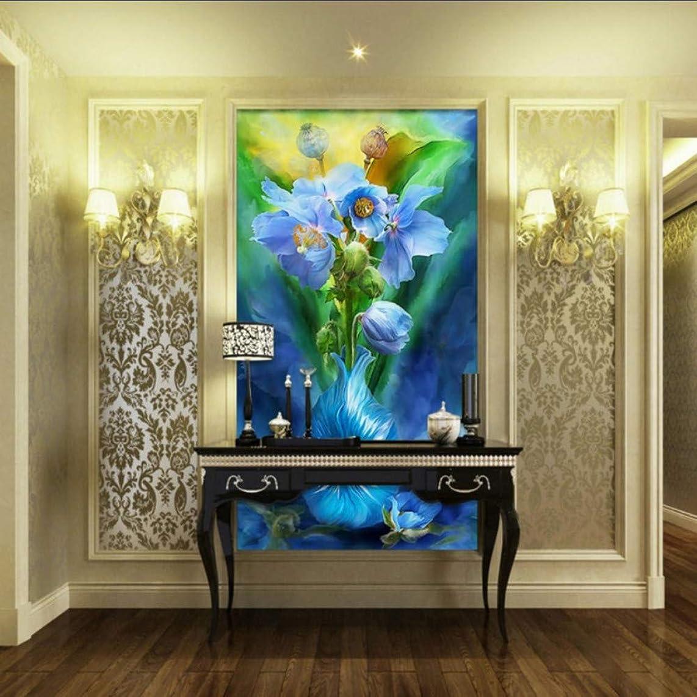 xbwy Custom Photo Wallpaper Modern Flower Painting Entrance Fresco Living Room Hotel Hall Wallpaper Custom Decorative Mural-150X120Cm