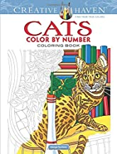 Creative Haven Cats Color by Number Coloring Book (Creative Haven Coloring Books)