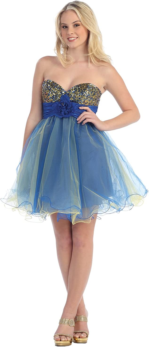 US Fairytailes Strapless Cocktail Party Junior Prom Dress #2583