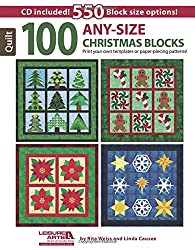 100 Any-Size Christmas Blocks by Rita Weiss
