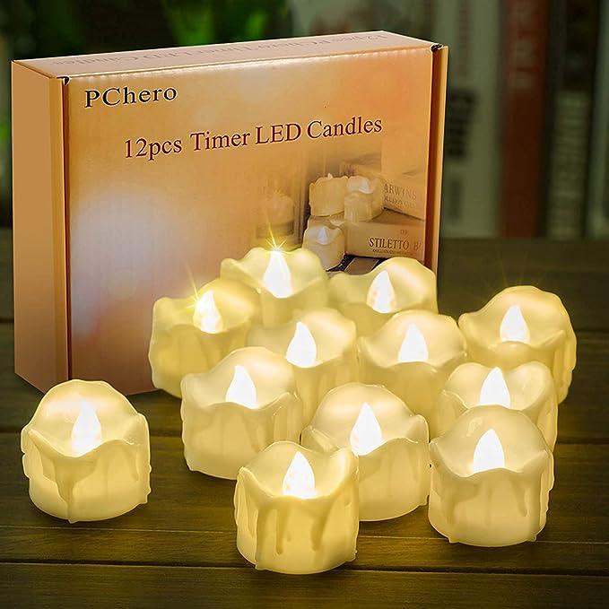 1790 opinioni per Candele LED con funzione timer, confezione da 12 PChero a batteria candele LED,