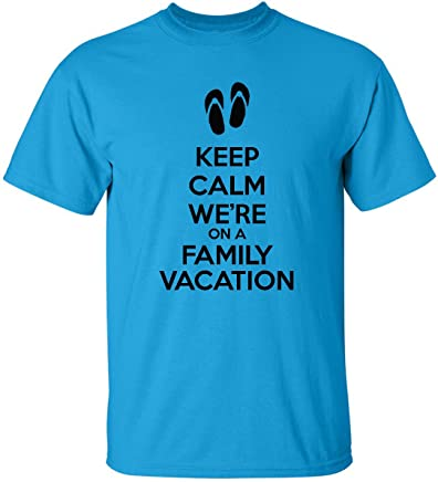 We Match! Keep Calm We're On A Family Vacation T-Shirt Matching Family Flip Flop Shirts (Kids - Adult)