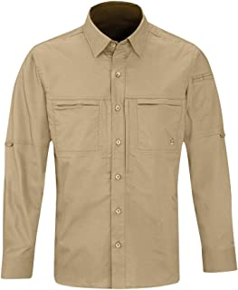 Propper Men's Long Sleeve Hlx Shirt, Khaki, L3