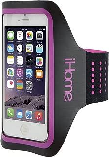 iHome – Smartphone Running Armband -Sport Neoprene For Jogging, Biking, Workout, Water Resistant – Android, Galaxy, Nexus, Moto - Neon Pink
