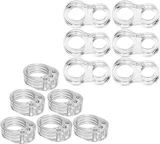 Topes de Puerta, Jestool 12pcs PVC Silenciadores para puerta Flexible Transparentes Ideales para Protectores de Puerta y Ventana y Muebles