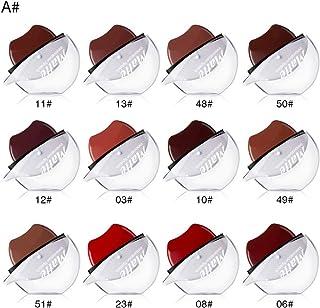 ファッション口紅 FidgetFidget 12色長続きがする怠惰な唇の形の口紅防水長続きがする保湿の口紅 A(12色/セット)