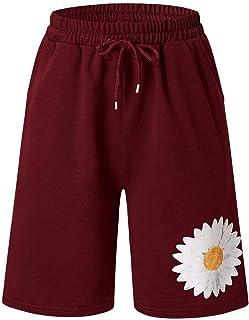 Summer Ladies Shorts Loose Casual Woman Floral Holiday Floral Pocket Beach Hot