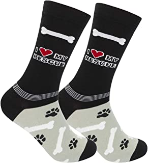 FUNATIC Funny Dog Themed Novelty Crew Socks All Breeds   Best Quality Unisex for Men Women   One Size Fits Most
